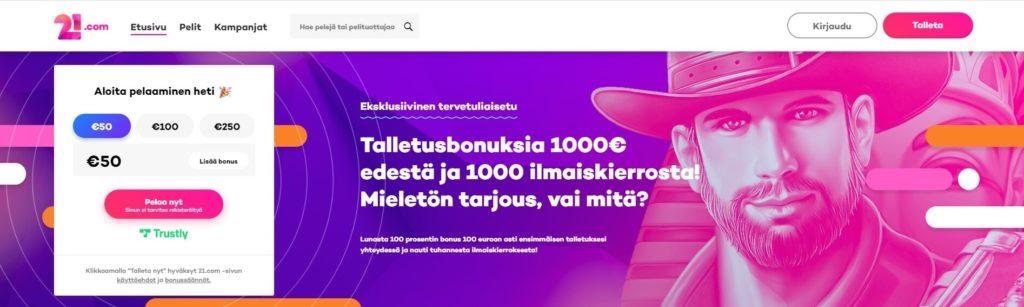 21.com etusivu