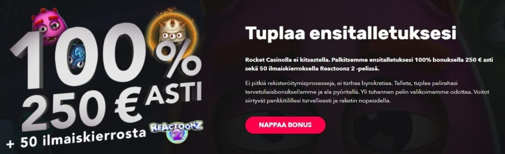 Rocket Casino bonus
