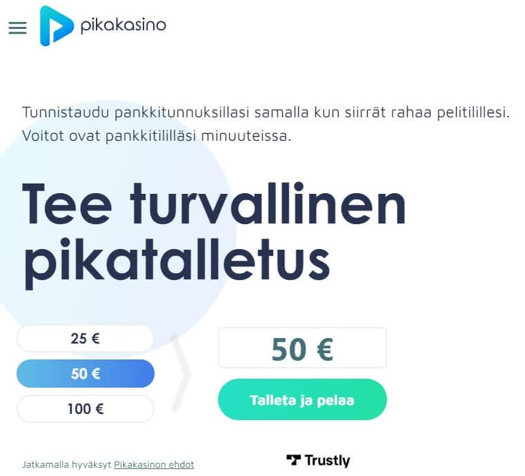Pikakasino.com kotiutus