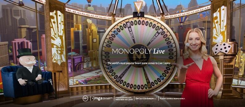 Monopoly Live peli pikakasinolla