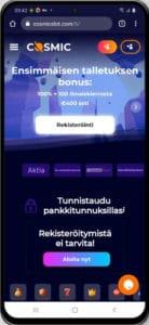 Cosmic Slot mobiilikasino