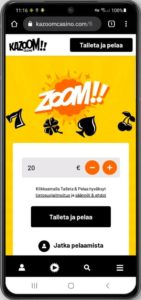Kazoom mobiilikasino