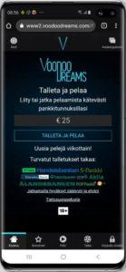 Voodoo dreams mobiilikasino