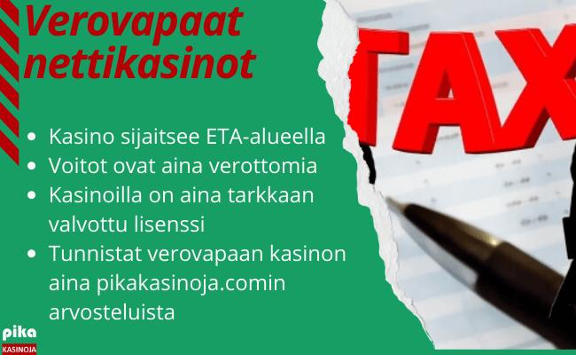 verovapaat nettikasinot ilman rekisteöintiä