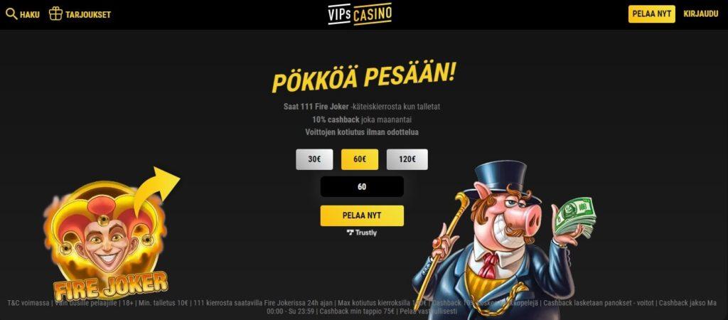 vips casino arvostelu etusivu