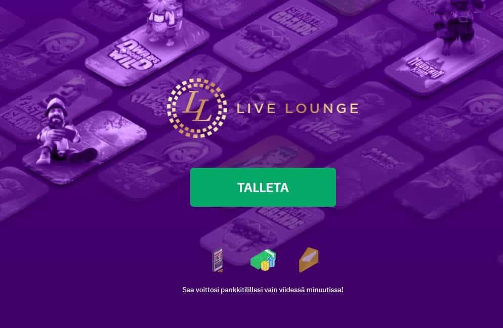LiveLounge etusivu