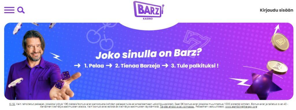 Barz Casino kanta-asiakkuusohjelma