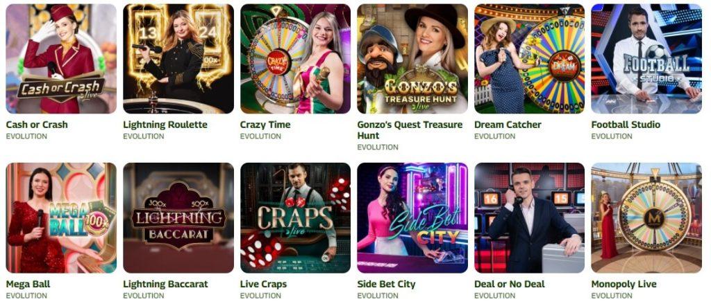 Livecasino on suosittu pelimuoto kasinoilla ilman tiliä